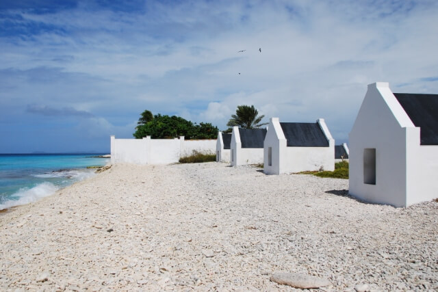 Witte slavenhuisjes Bonaire