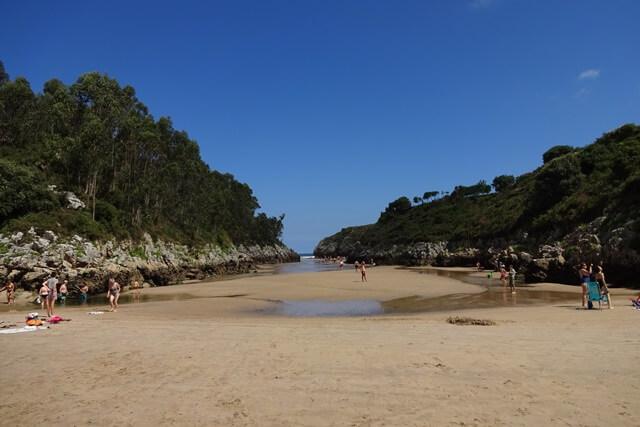 Playa de Guadamia - Stranden Asturië