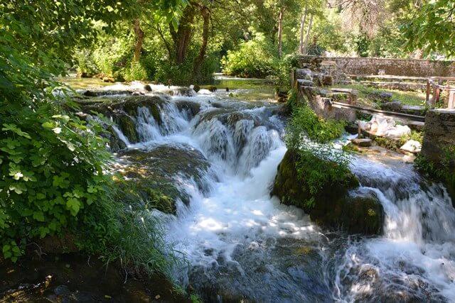Krka watervallen Dalmatië Kroatië