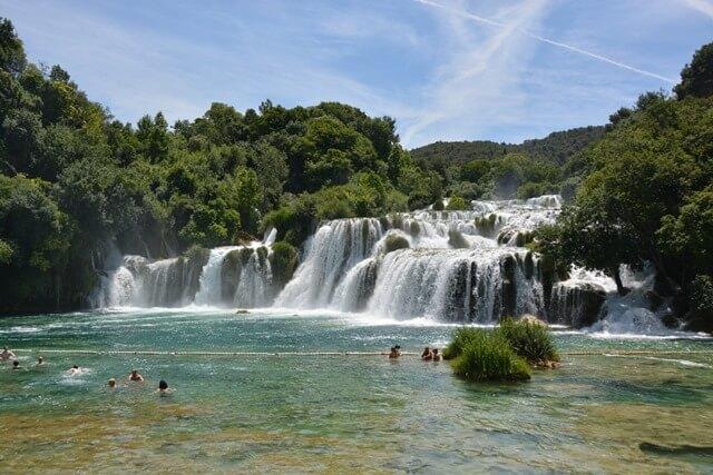 Bezienswaardigheden Dalmatië Kroatië - Krka watervallen