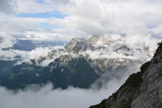 Uitzicht Eisriesenwelt - Salzburgerland Oostenrijk