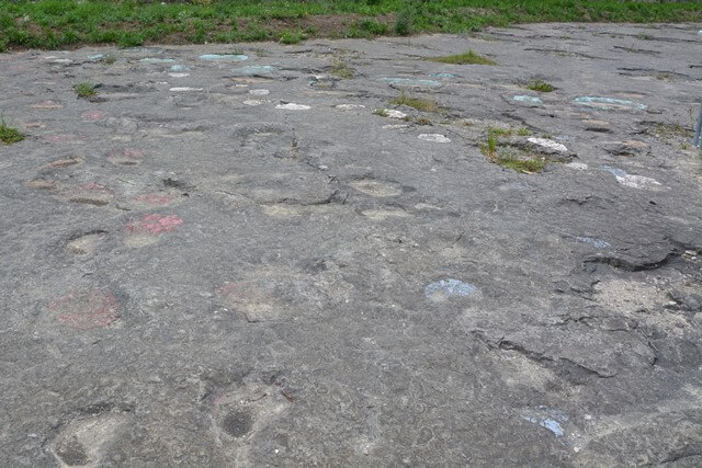 Dinosaurus sporen en Lapiaz Loulle - Bezienswaardigheden Jura