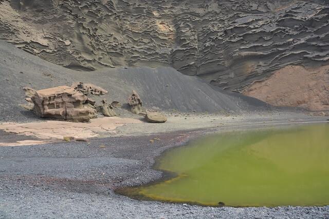 Het groene meer Lanzarote - Lago Verde Lanzarote