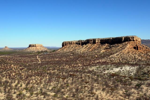 Tafelbergen bij Vingerklip, Namibie