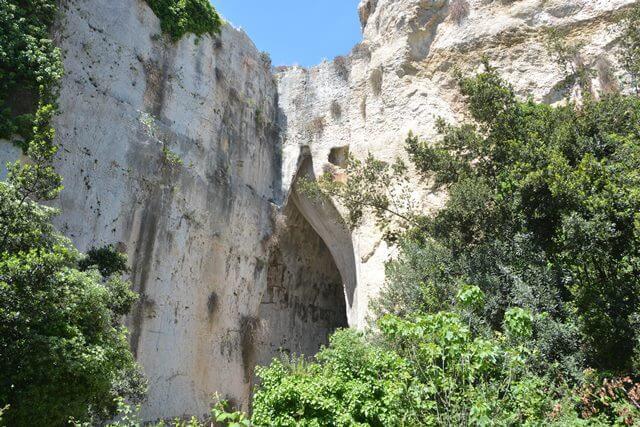 Oor van Dionysius- Sicilië bezienswaardigheden