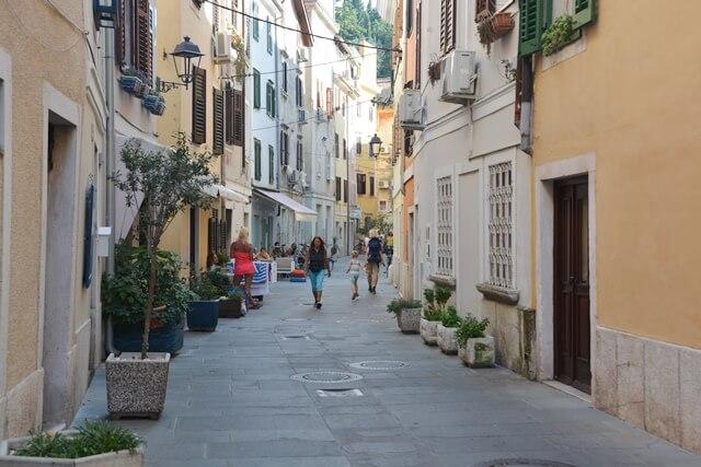 Piran - wandelen door de straten