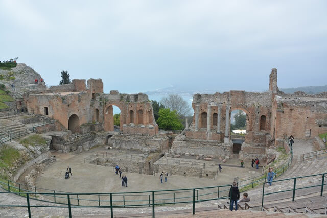 Griekse theather Taormina - Sicilië bezienswaardigheden